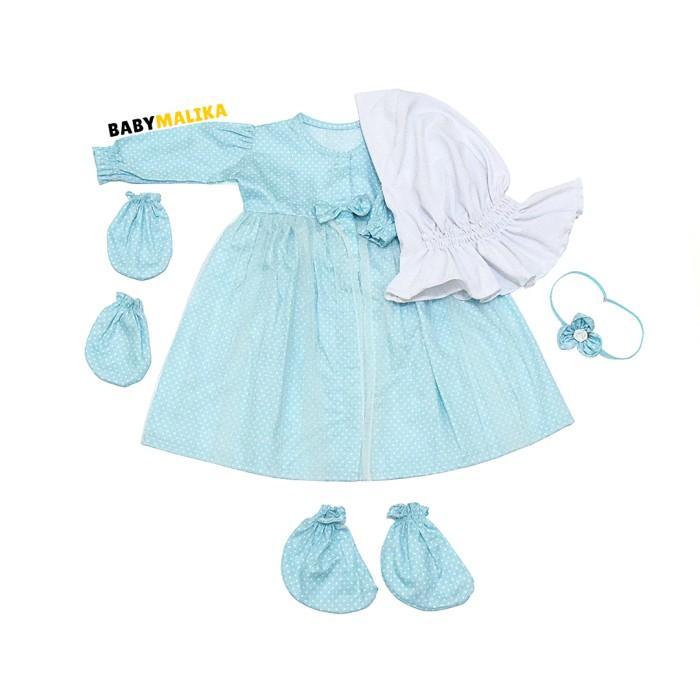 harga Baju bayi perempuan baby malika gamis bayi newborn aysa polka blue Tokopedia.com