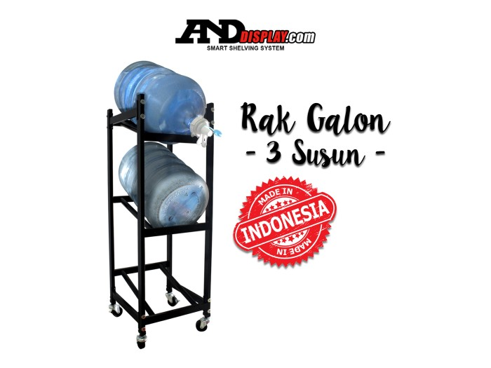 harga Rak galon air aqua 3 susun Tokopedia.com