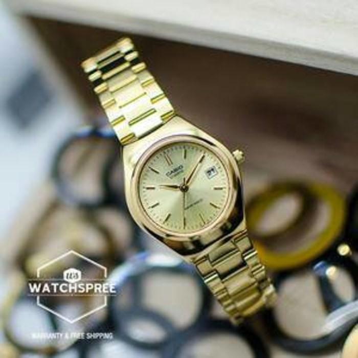 Jual Jam Tangan Wanita Strap Rantai Gold Casio Original LTP-1170N-9a ... 9e3c13850e