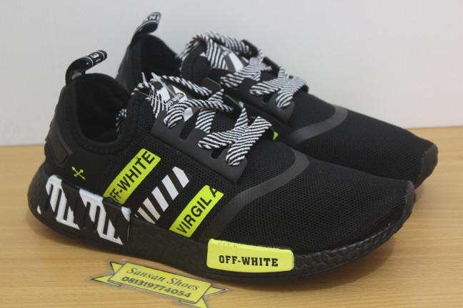 100% quality pretty cool good quality Sepatu Adidas Nmd R1 Black Off White Virgil