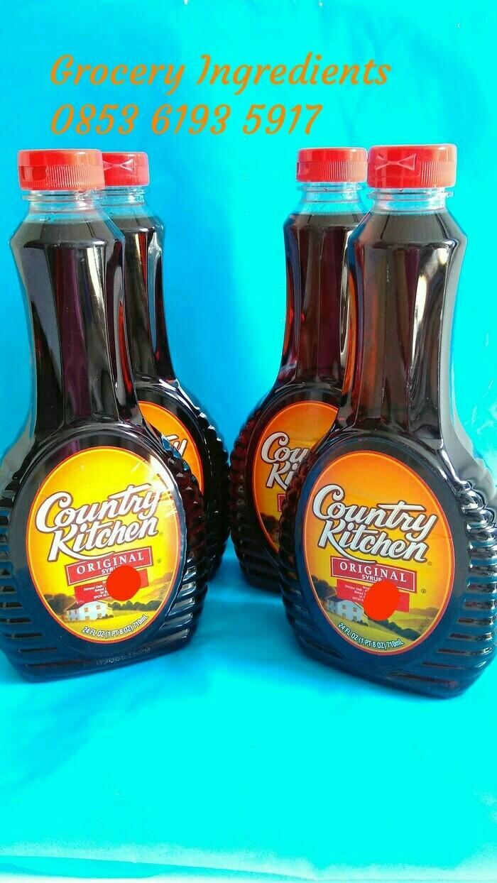 harga Country kitchen maple syrup 1duz 12 botol / sirup jagung / corn syrup Tokopedia.com