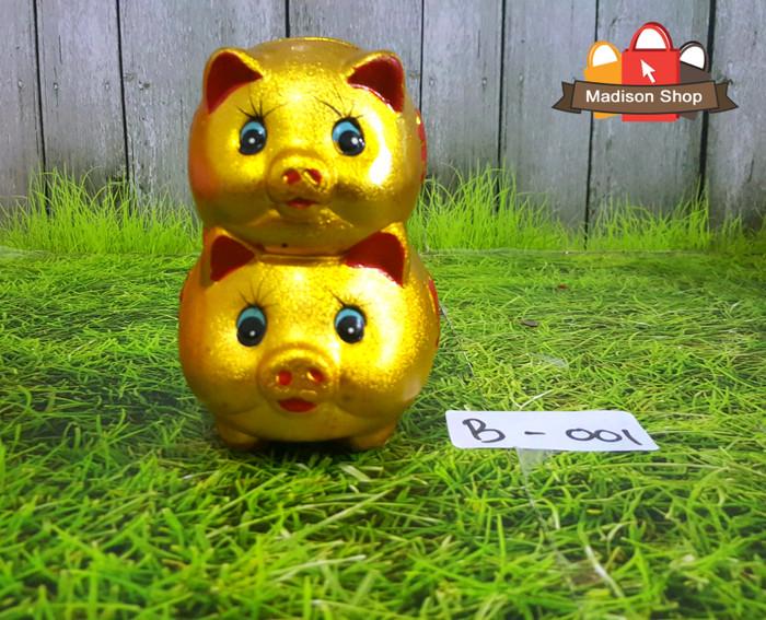 harga Celengan babi emas susun 2 kado imlek piggy bank hiasan dekor imlek Tokopedia.com
