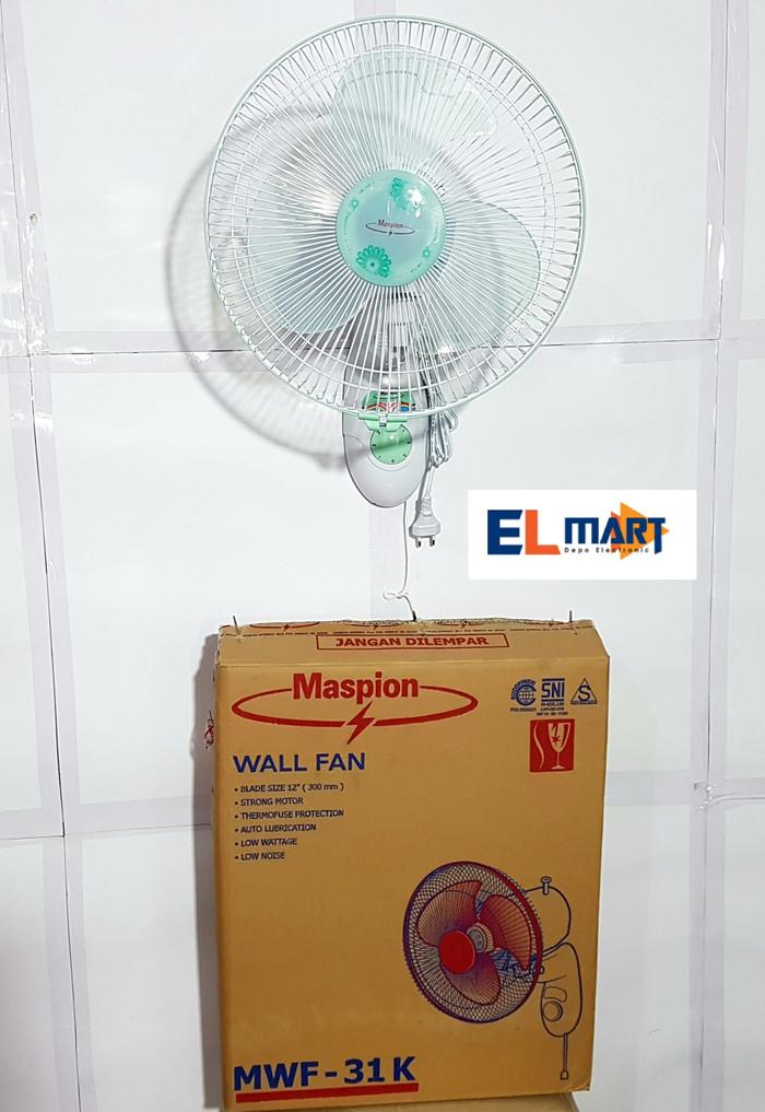 Maspion wall fan 12inch mwf31k/ kipas angin finding 12
