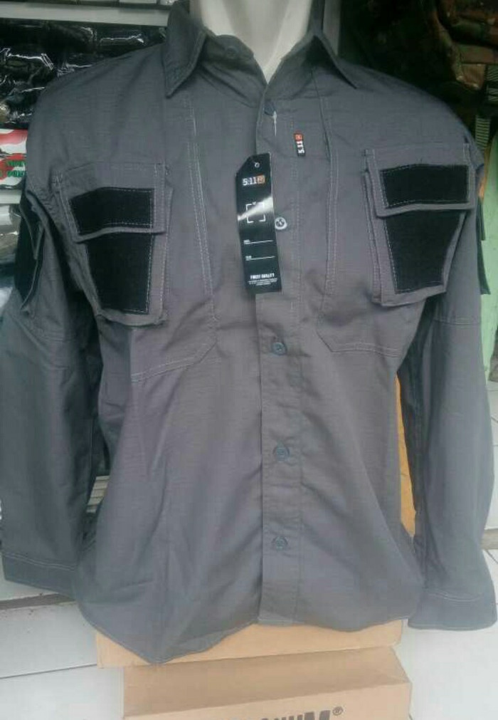 harga Kemeja dron tactical 5.11 abu kantong samping dada resleting Tokopedia.com