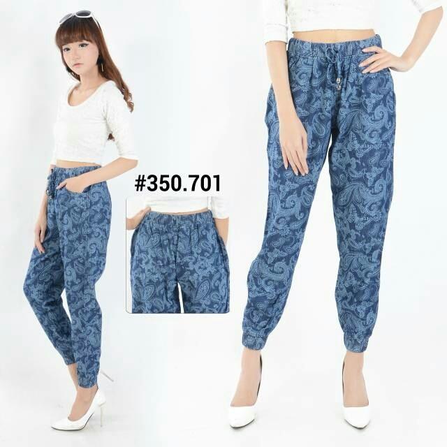 harga Celana joger jeans batik fashion wanita jogger 350 701 Tokopedia.com