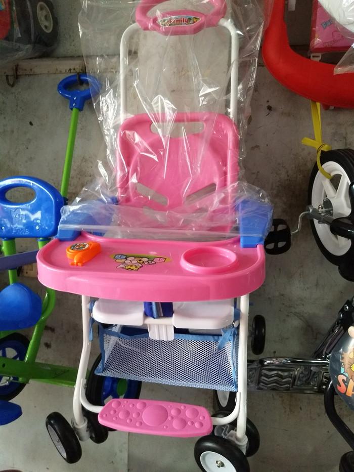 Meja kursi makan bayi pink family