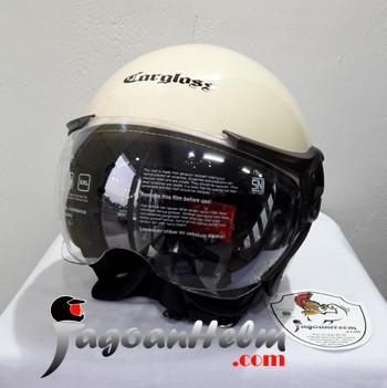 harga Cargloss helm yr ghotic | avorio naiade | single visor retro carglos Tokopedia.com