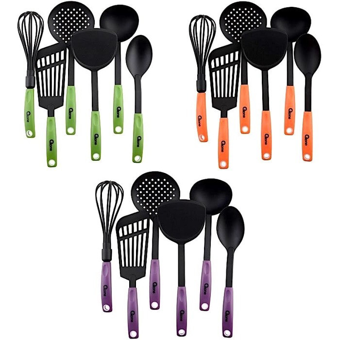 OXONE SPATULA SET PERANGKAT MASAK OX-953 NYLON KITCHEN TOOLS SUTIL - Orange