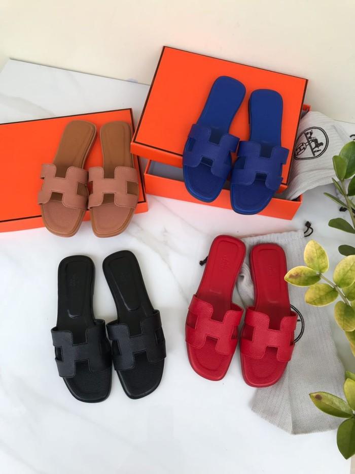 Sandal hermes slipper oran h epsom mirror 2018 572723713a