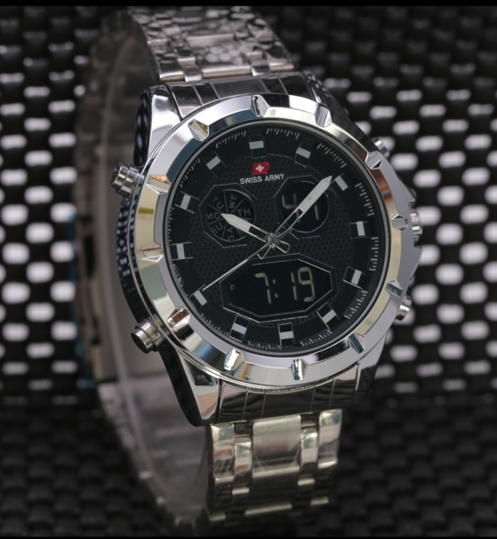 SA 8808 BS Stainless Steel. Source · Swiss army dual time tali .