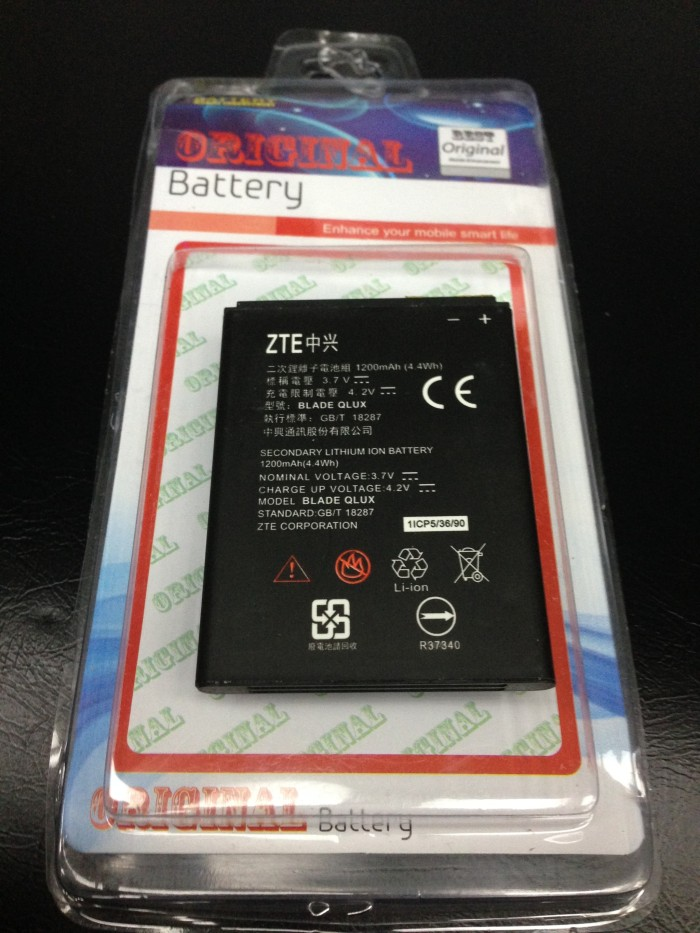 ... harga Baterai battery zte blade q lux atau zte bolt e1 1200mah original oem Tokopedia.