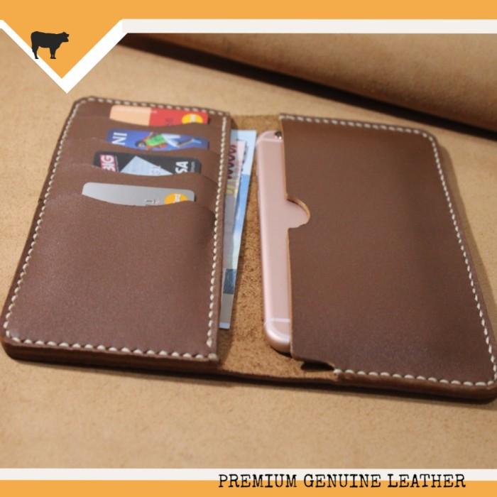 harga Leather case iphone 6+ (plus) / dompet kulit handphone apple iphone 6 Tokopedia.com