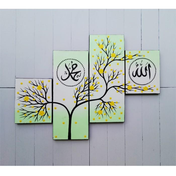 harga Lukisan minimalis kaligrafi bunga hijau muda - jual lukisan online Tokopedia.com