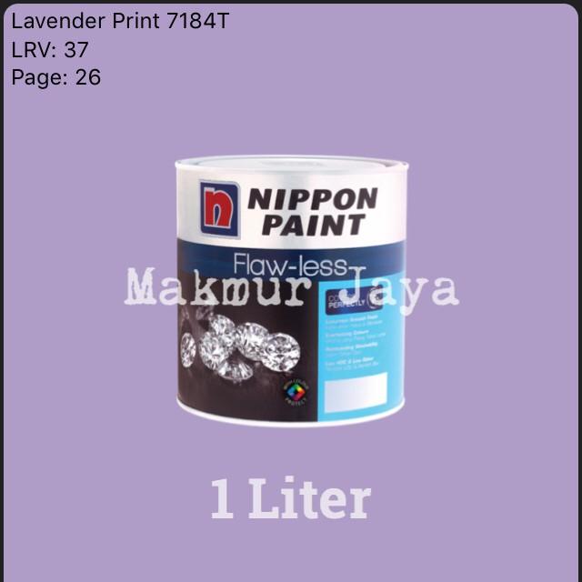 harga Nippon flawless lavender print 7184t 1l tinting cat tembok interior Tokopedia.com