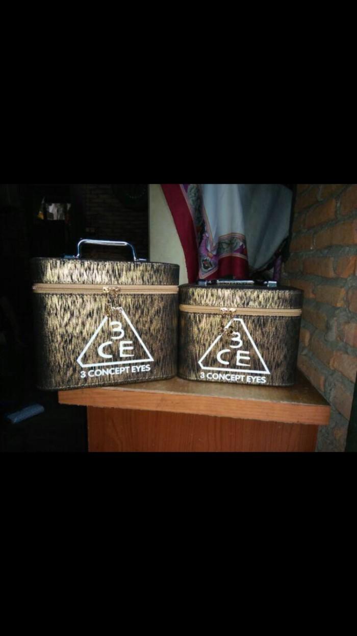 harga Box kosmetik beauty case 2in1 set kotak make up chanel / 3ce Tokopedia.com