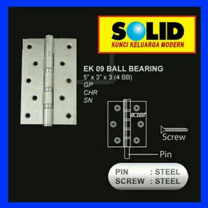 harga Engsel solid ek.09 5x3x3 4bb, engsel 5 inc solid, engsel pintu Tokopedia.com