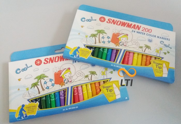 harga Terlaris !! snowman water colour marker wc-200-24 Tokopedia.com