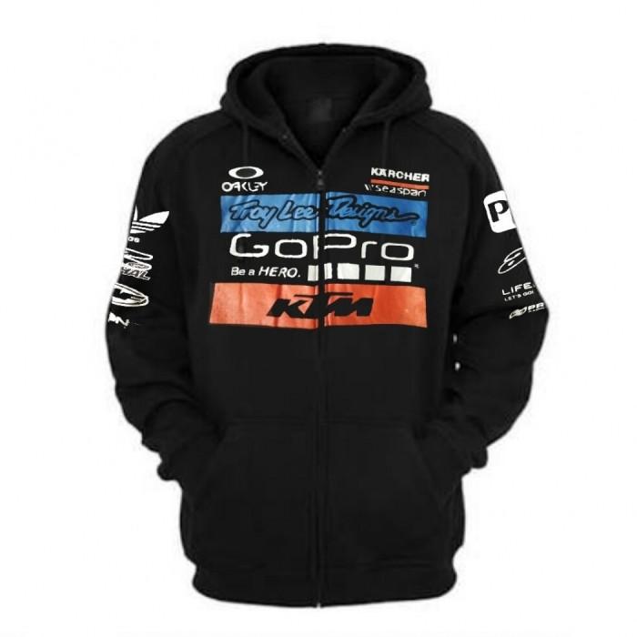 harga Jaket ktm go pro black/ sweater hitam hoodie zipper balap sepeda motor Tokopedia.com