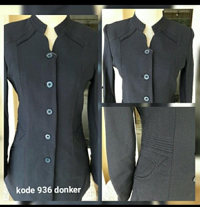 Jual Baju Seragam Blazer 932 Dongker Ibu Guru wanita