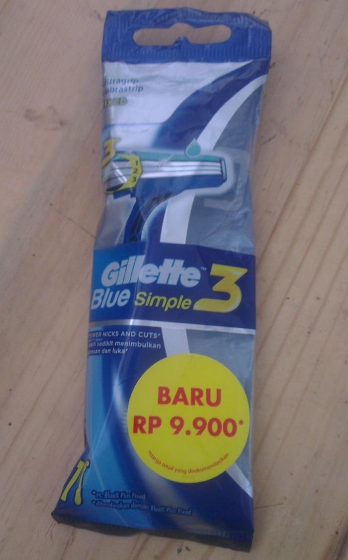 Harga Sale Gillette Blue 3 Isi 4pcs Rp 55000 Simpe 4s Paket 2 Simple