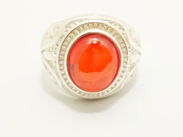 harga Vee cincin pria batu merah delima siam ring sterling silver Tokopedia.com