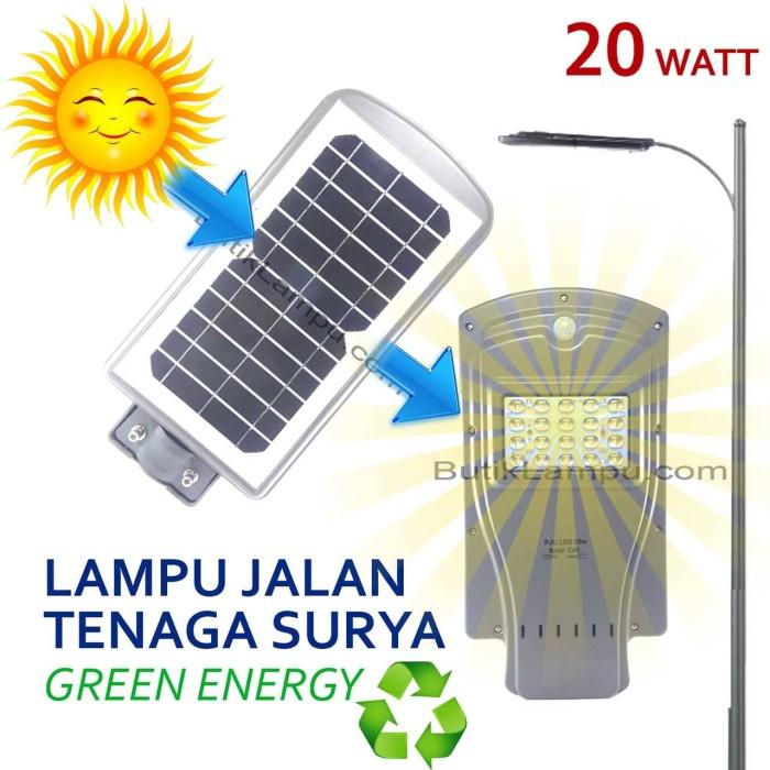 Foto Produk Lampu Jalan PJU SolarCell Panel Surya 20 W LED Solar Cell Matahari dari butiklampu