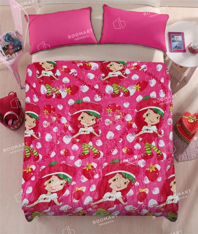 harga Selimut anak dewasa karakter strawberry shortcake ukuran 150x200 Tokopedia com