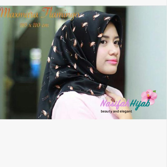 Jual Jilbab Segiempat Motif Hijab Segiempat Motif Flamingo Maxmara