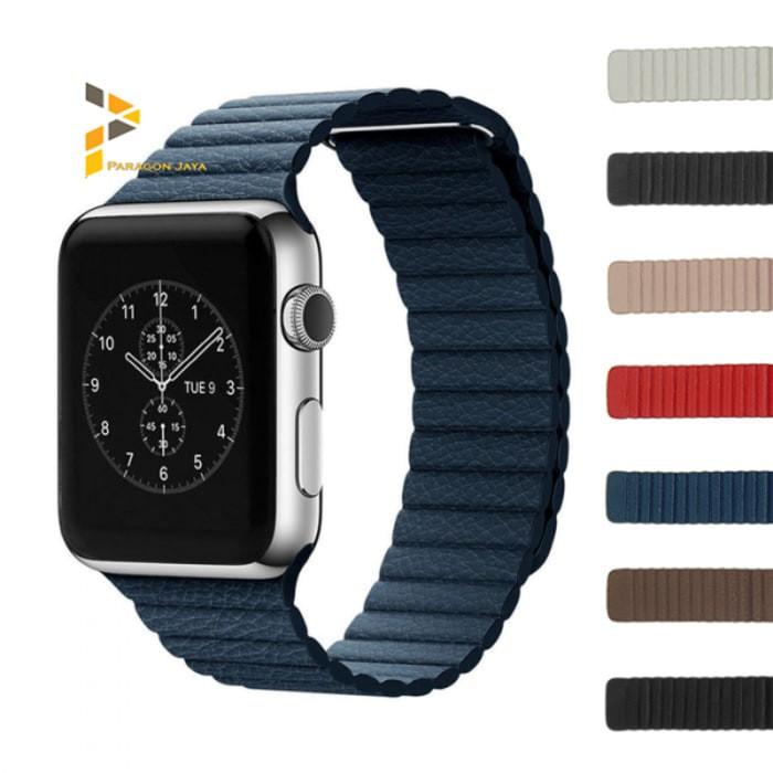 Foto Produk 42mm Apple Watch iWatch Tali Jam Magnetic Leather Loop Strap Band dari Toko-Amadia