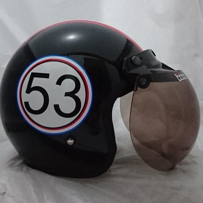 Helm (Retro) Bogo 53 Black Gloss Ss 1