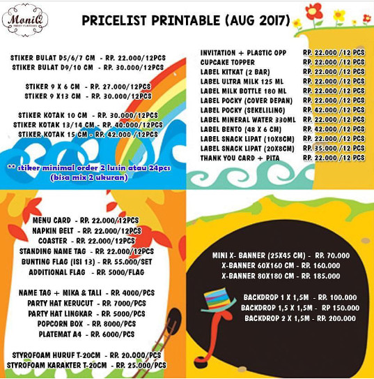 photo about Printable Party identify Jual Printable bash, kartu undangan, cupcakes topper, bunting flag - DKI Jakarta - Moniq.sweetflavours Tokopedia