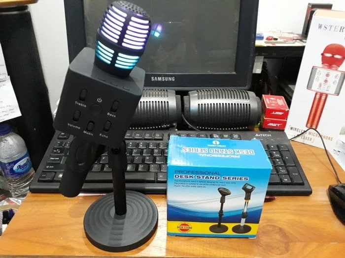 harga Desk microphone stand holder mic meja untuk mic ws 858 q7 q9 Tokopedia.com