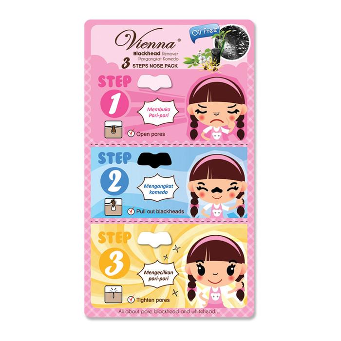 Vienna blackhead  nose pack / masker komedo 1 sheets sachet