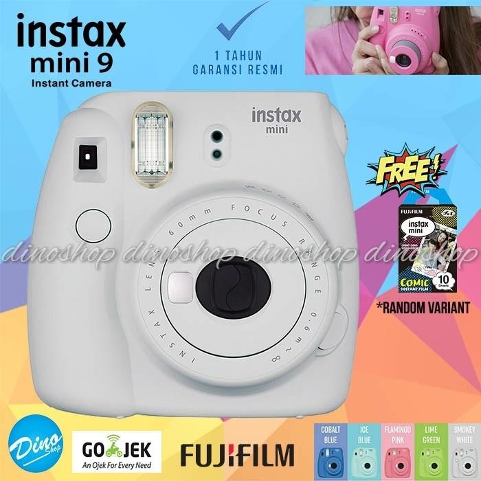 harga Fujifilm instax mini 9 kamera polaroid instant smoky white free film Tokopedia.com