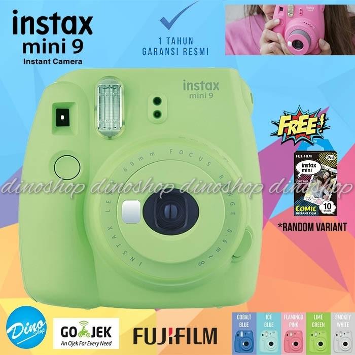 harga Fujifilm instax mini 9 kamera polaroid instant lime green free film Tokopedia.com
