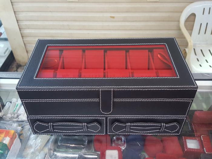 harga Kotak stelan isi jam tangan gelang cincin kalung kulit Tokopedia.com
