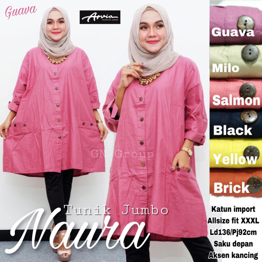 Jual Baju Atasan Wanita Muslim Blouse Naura Tunik Jumbo Kota Surakarta Myfashion Tokopedia