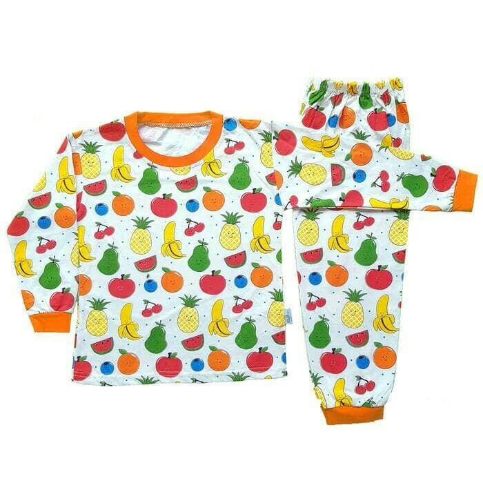Setelan Baju Tidur Piyama Anak Lengan Panjang Fruit PA13-002 Fruit