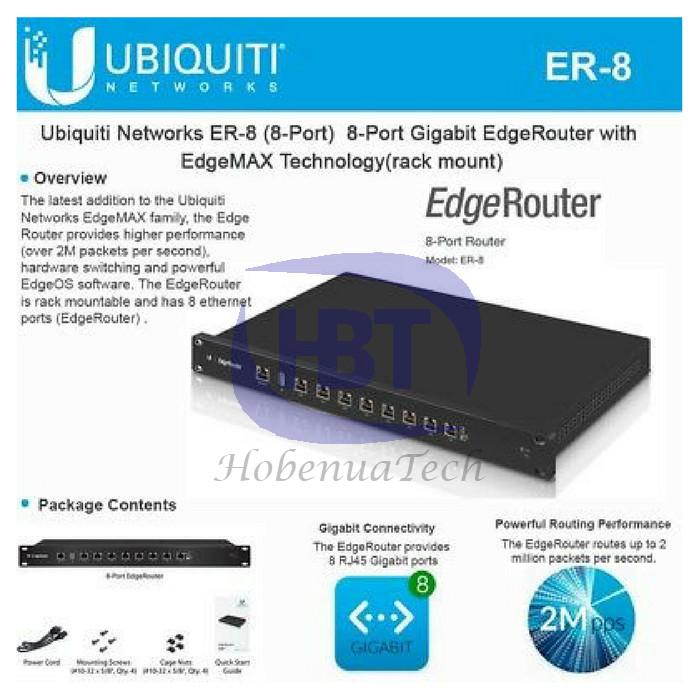 Jual Ubiquity EdgeRouter 8 EdgeMax ER-8 - Black - Jakarta Pusat -  Tipsdietsehatt   Tokopedia