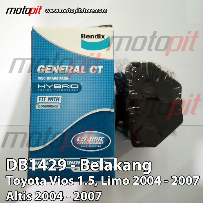 harga Bendix kampas rem belakang toyota vios limo altis 2004 - 2007 db1429 Tokopedia.com