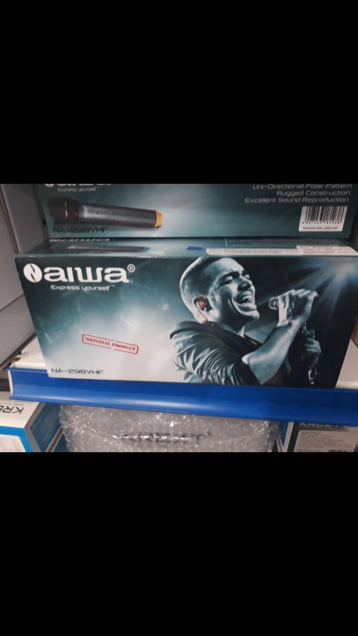 harga Aiwa naiwa 198 298 398 microphone mic wireless mik wireles microphone Tokopedia.com