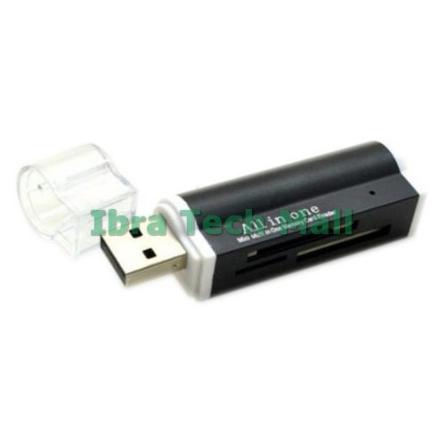 All in 1 USB2.0 Multi Memory Card Reader For SDHC TF M2 Memory Stick Silver PVCA