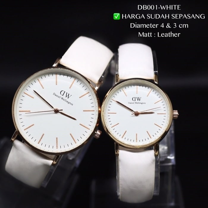 Jam tangan couple DW daniel wellington classic tali kulit grosir murah