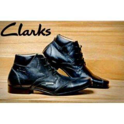Jual Sepatu Pantofel Clark Hitam Tali Kulit Asli Pantopel Formal ... 610edbf88c