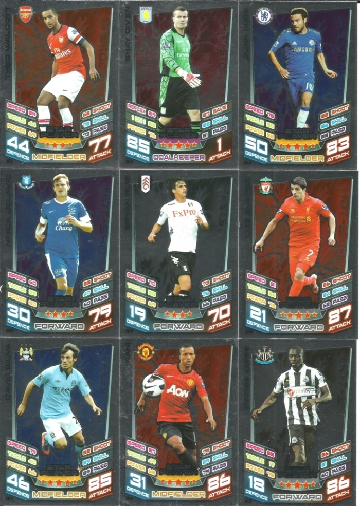 harga Kartu sepak bola match attax original season 2012-13 star player Tokopedia.com