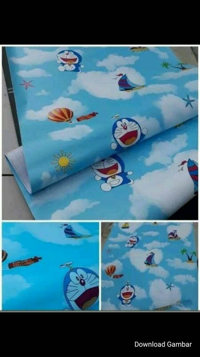 Jual Wallpaper Sticker Karakter Doraemon Biru 45cm X 10m Kota Bekasi Badin Ols