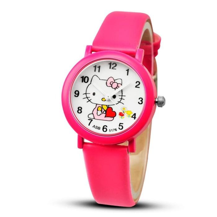 harga Jam tangan anak anak perempuan hello kitty hot pink Tokopedia.com