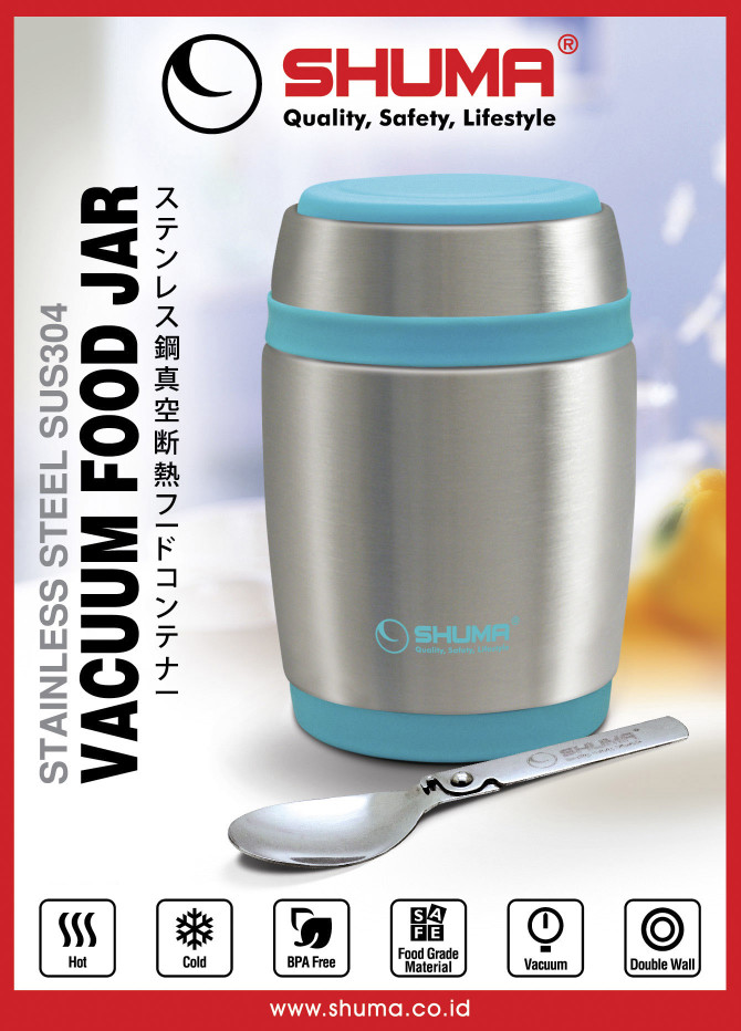 harga Rantang shuma 580 ml - kotak makan tahan panas lunch box stainless Tokopedia.com