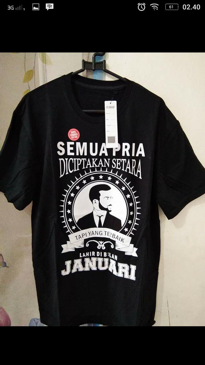 kaos.baju.t-shirt PRIA TERBAIK LAHIR DIBULAN JANUARI terlaris
