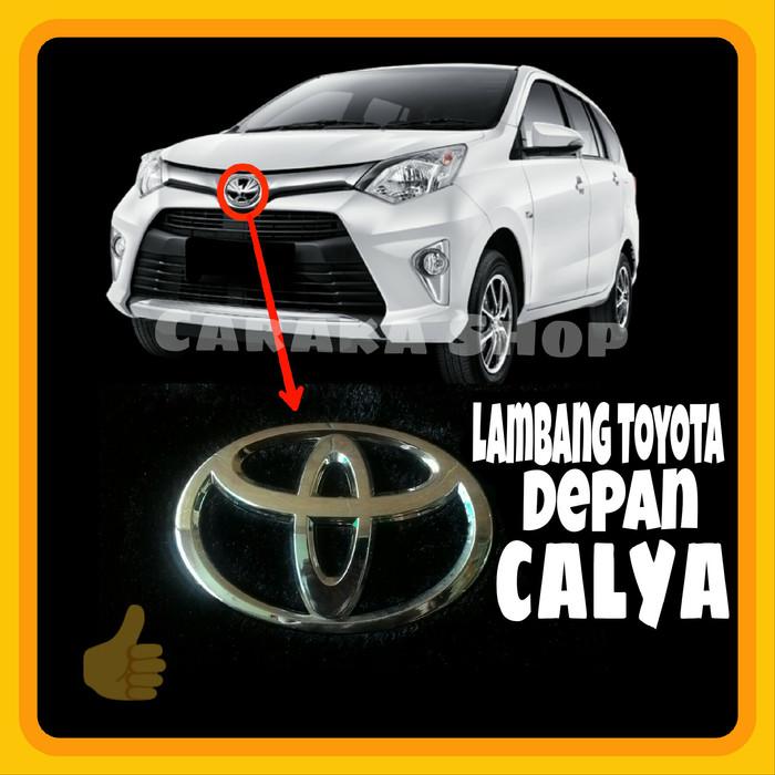 Foto Produk Emblem Depan CALYA - Pengganti Lambang Toyota Depan Calya Full Chrome dari Caraka Shop